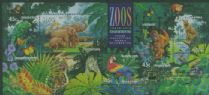 AUS SGMS1484 Australian Zoos, Endangered Species miniature sheet with Fremantle overprint